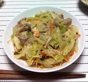 野菜たっぷり!長崎皿うどん♪