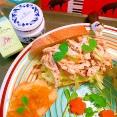 バジル薫るマ×マ×マの味わい鶏ささみサンド