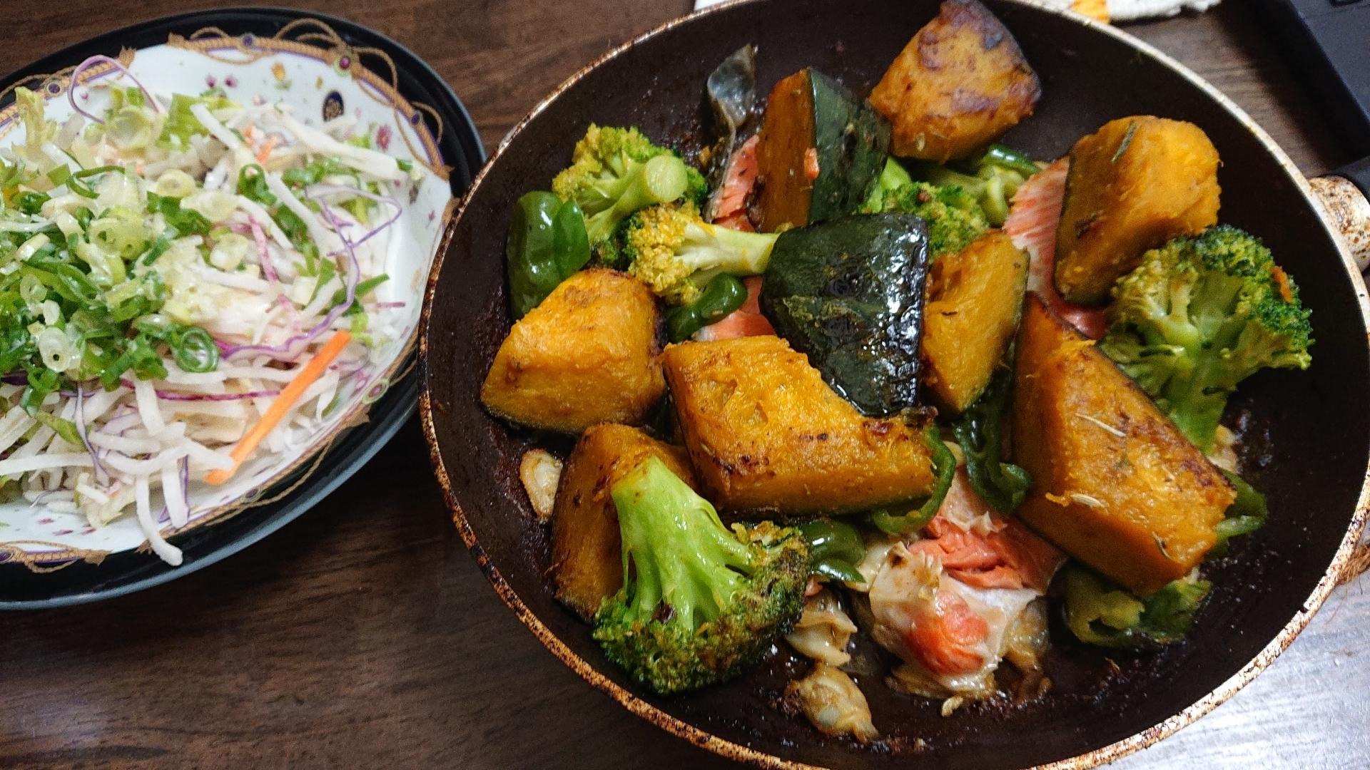 栄養満点⭐鮭と野菜のバター焼き