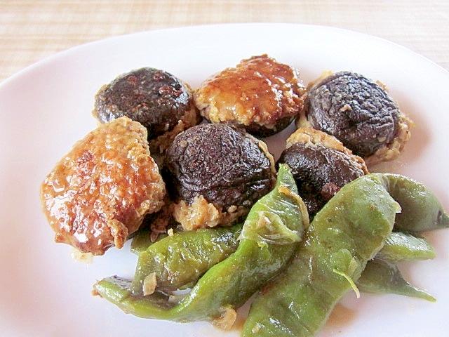 椎茸の肉詰め焼き煮