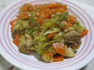 ♪鶏肉と白菜のあんかけ♪
