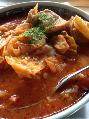 トマトジュースで簡単トマトスープ!