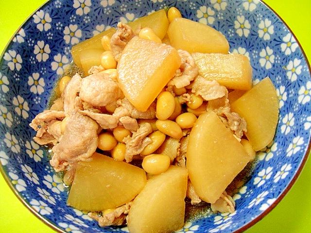 大根と大豆の煮物
