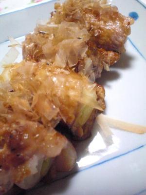 ねぎの豚肉巻き☆すきやきのたれで簡単味付け