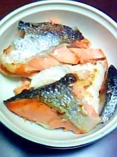 鮭のあら焼