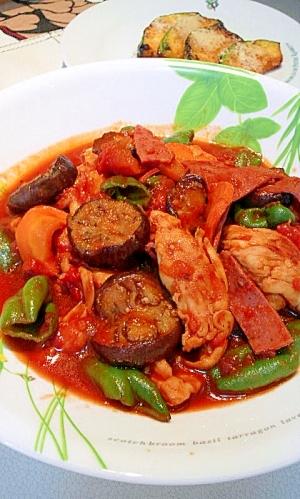 干し野菜&ささみのヘルシーラタトゥイユ