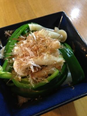 【簡単副菜】長芋とピーマンとブナピーのサラダ