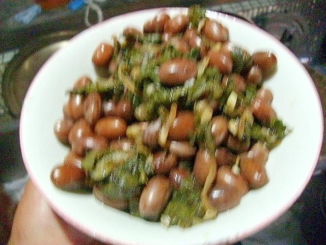 金時豆の薬味ソテー