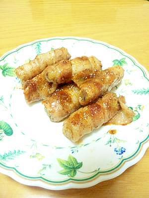 ごぼうの豚肉巻~焼肉のタレ味~