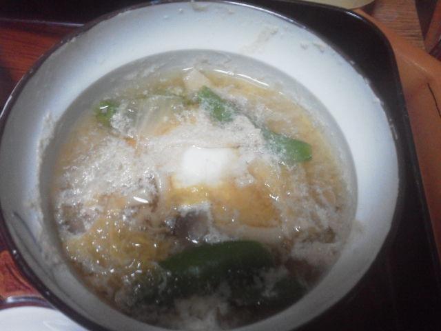 絹さやと溶き卵のスープ