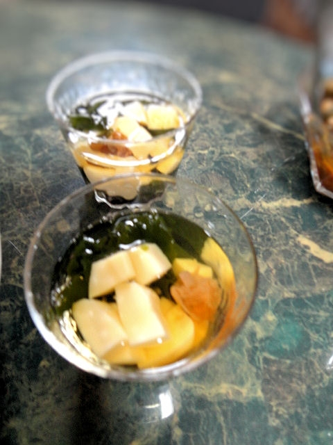 夏のサッパリお吸い物★ワカメと卵豆腐