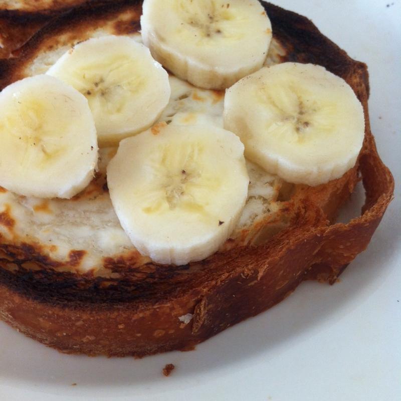 バナナクリームチーズハニートースト