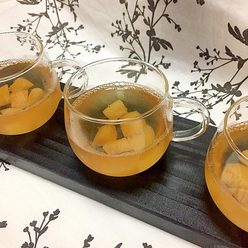 2. ストレートりんごジュースと桃缶のゼリー