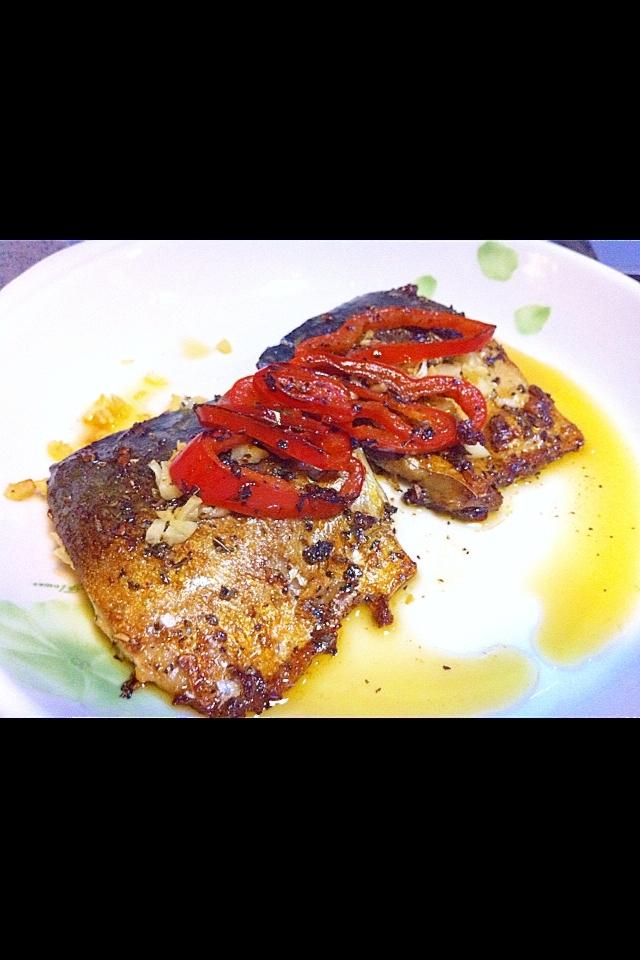サバのオリーブ油焼き