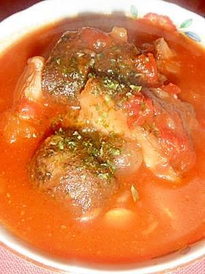 トマトの缶詰で具沢山スープ