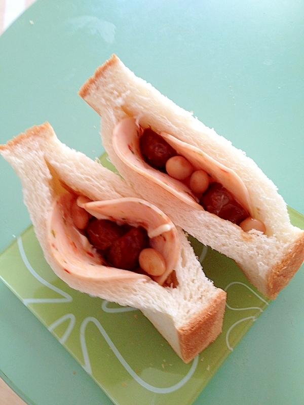 サラダチキンと大豆のポケットサンド