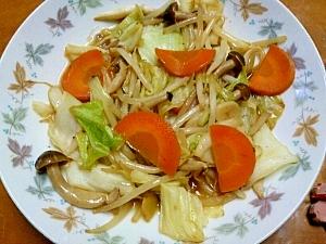 中華風きのこ入り野菜炒め
