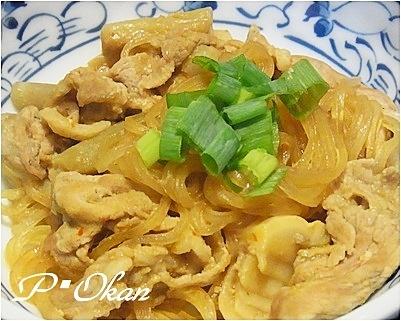 4. 旨味たっぷり!ずいきと豚肉の中華風炒め物