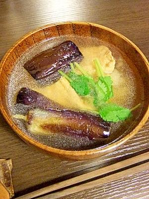 7. 揚げなすの味噌汁