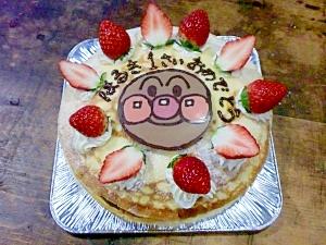 7.ミルクレープアンパンマンケーキ