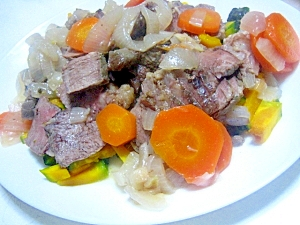 圧力鍋で牛肉の柔らか煮