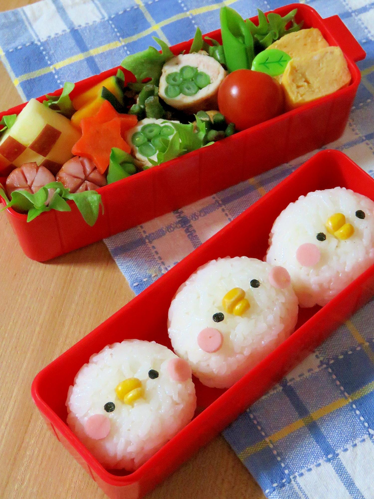 簡単キャラ弁☆カナヘイ ピスケ(風)のお弁当♪ レシピ・作り方