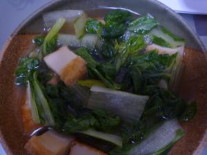小松菜と厚揚げの煮物