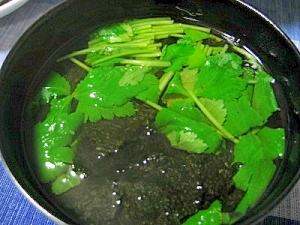 海苔と三つ葉のお吸い物