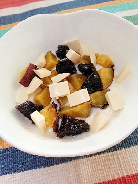 お腹にやさしく☆お芋とプルーンのチーズヨーグルト♪
