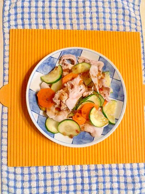 ズッキーニと豚肉のサラダ♪ レシピ・作り方