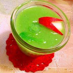 小松菜と林檎の麦ライスミルクスムージー