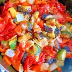 夏野菜のさっぱり塩レモンカポナータ
