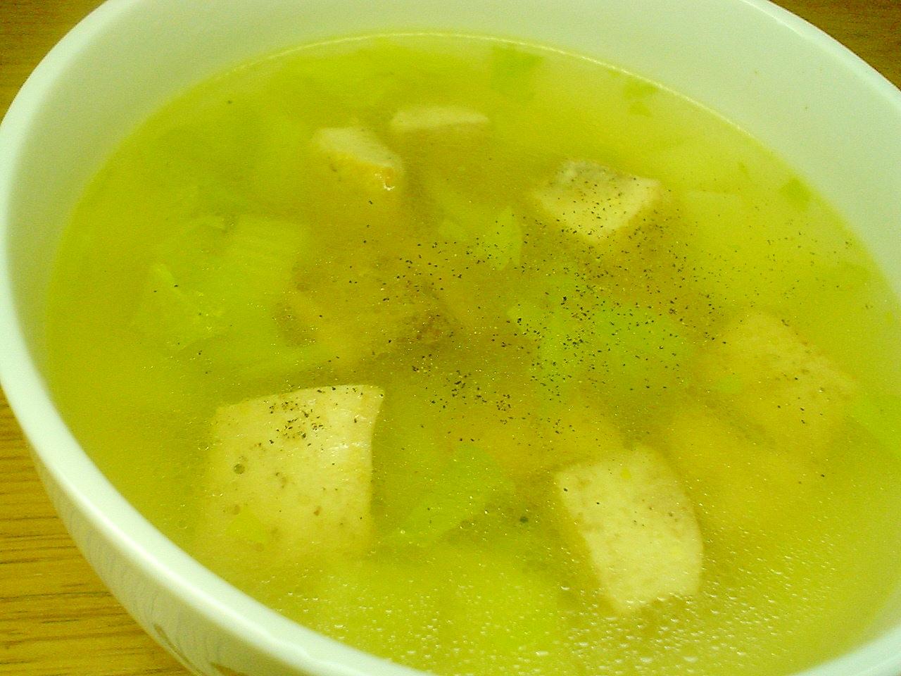 メカジキとセロリの塩スープ