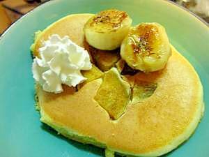 安納芋とバナナのホットケーキ