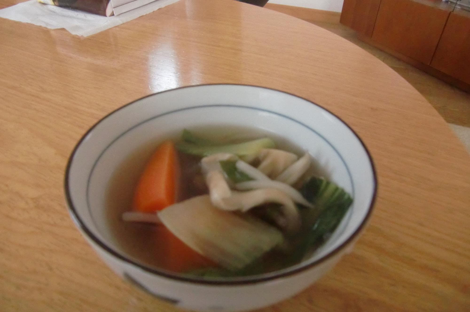 常備野菜の中華スープ