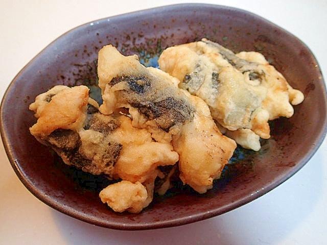 海苔巻き鶏ムネ肉の天ぷら