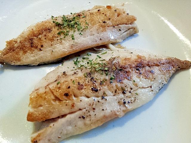 真あじオリーブオイル漬けの焼き魚