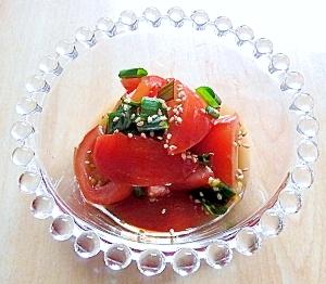 トマトとわけぎのサラダ