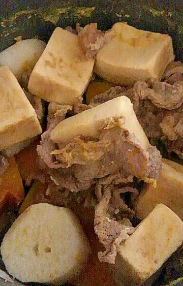 牛肉入り★高野豆腐・長芋・南瓜の煮物
