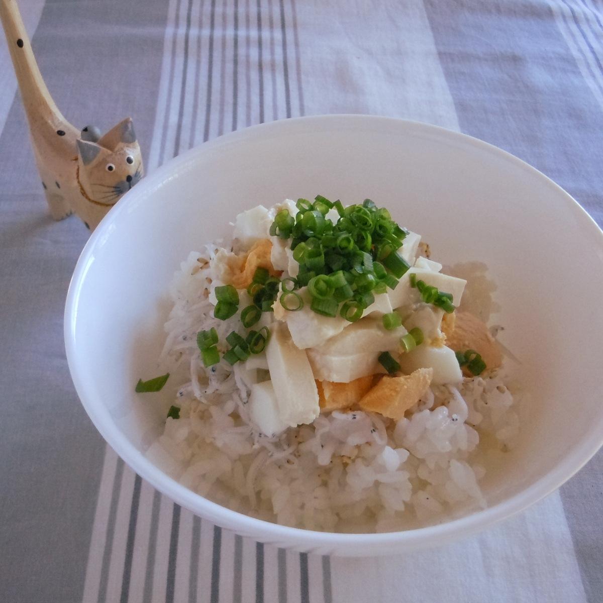 塩麹卵と塩麹豆腐で美味しい簡単丼
