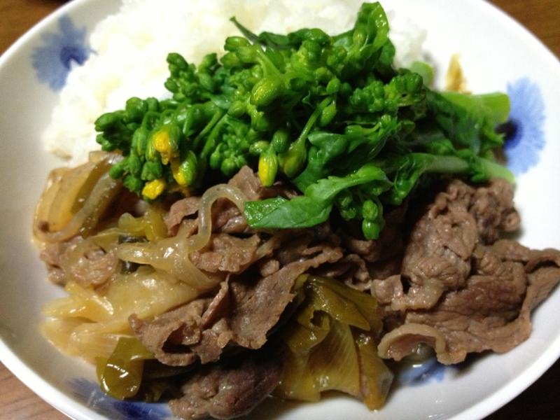 長ねぎと牛肉の煮物