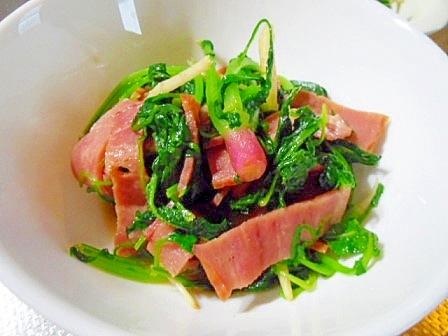 色々ぬき菜(間引き菜)とベーコンのソテー