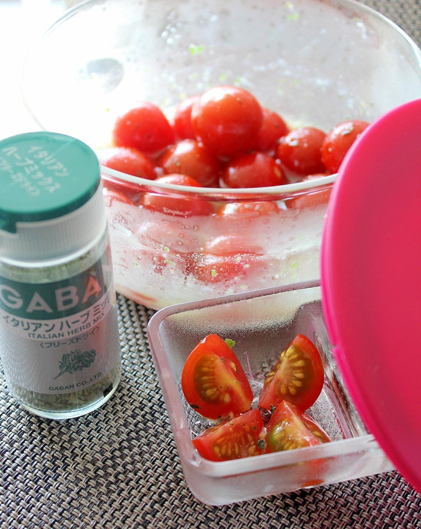糖質制限中に便利♪イタリアンハーブのトマトマリネ