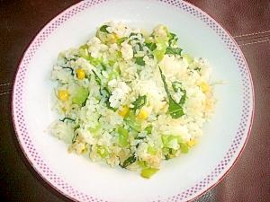小松菜としらすの簡単チャーハン
