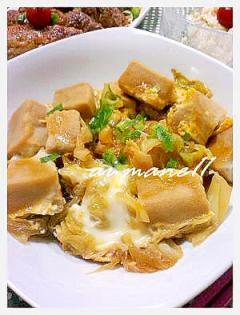 キャベツと高野豆腐の卵とじ