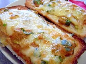 簡単!ネギ味噌マヨのチーズトースト♪