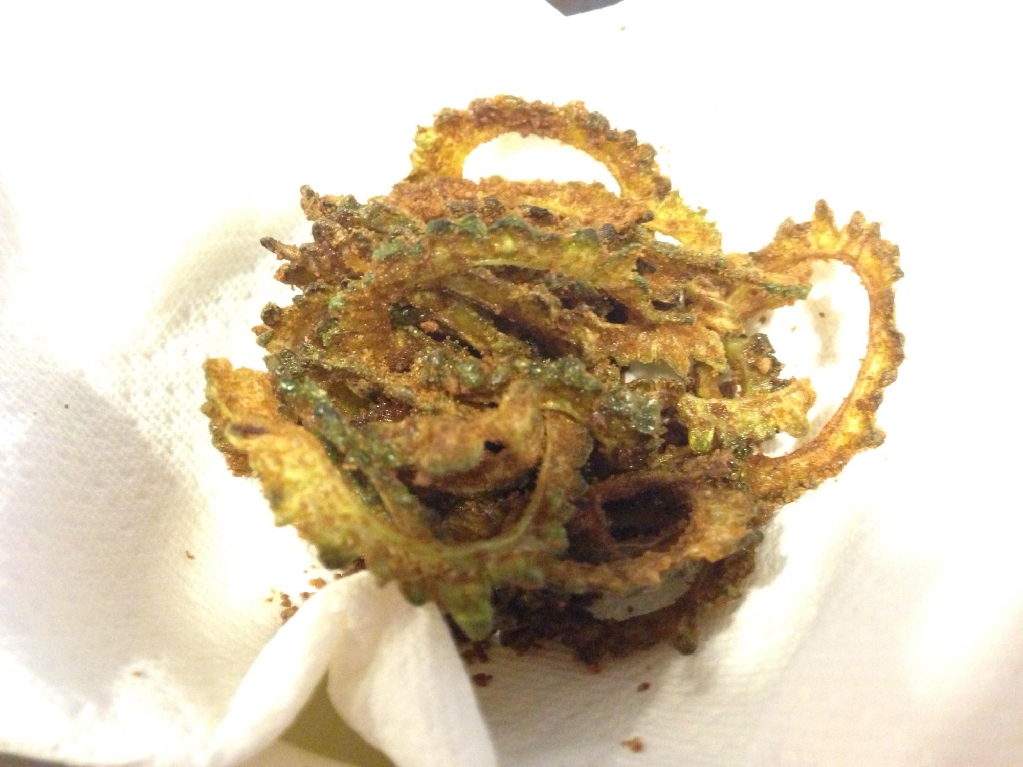 ゴーヤチップス(黒糖仕立て)