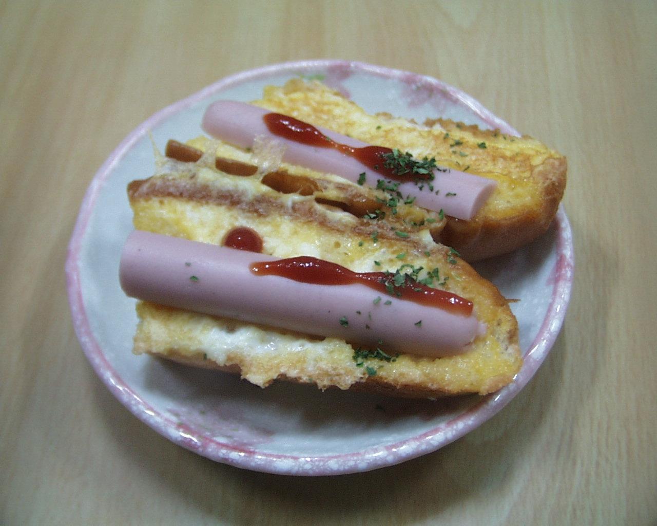 ソーセージフレンチロールパン