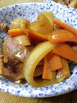 1. 豚ハツのウスターソース煮