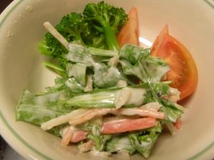 春菊とごぼうのサラダ